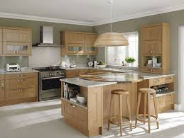 Medium Oak Kitchen Cabinets Light Oak Modern Kitchen Quicuacom