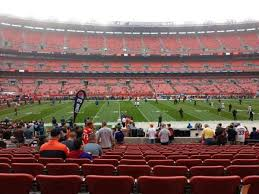 Browns Seating Chart Firstenergy Stadium Section 107 Row 16 Seat 11 Home Of