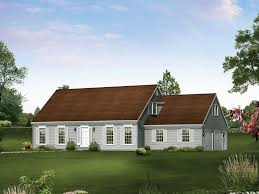 Summerwood Cape Cod Style Home Plan D    House Plans and MoreCape Cod  New England Home With Double Side Entry Garages