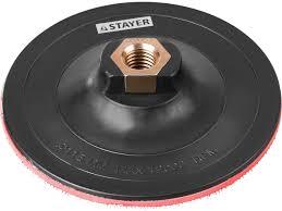<b>Тарелка опорная</b>, <b>пластиковая для</b> УШМ, на липучке, 125 мм, М14 ...