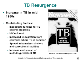 transmission and pathogenesis of tuberculosis ppt video  13 tb resurgence
