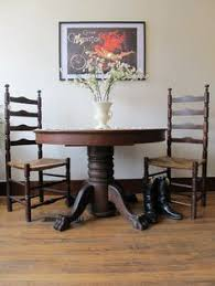 on hold antique oak claw foot table round oak dining