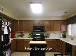 enchanting replace fluorescent light fixture in kitchen ideas also