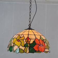 colored glass lighting. 14-inch Lotus Chandelier American Pastoral Tiffany Restaurant Cafe Colored  Glass Lighting Fixtures Modern European E