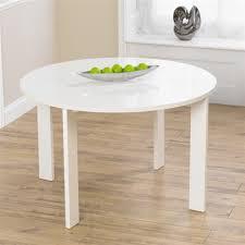 white round hideaway gloss dining set round designs