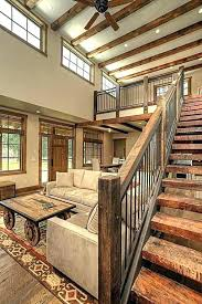 wooden stair railings contemporary wood railing beautiful chunky with a mid century and or outdoor designs