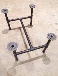 black steel pipe coffee table legs