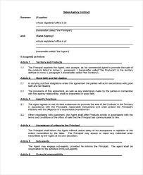 Sales Agent Contracts Magnificent Agent Contract Templates 48 Free Word PDF Format Download Free