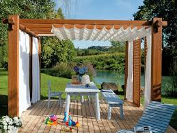 outdoor curtains for pergola awesome appealing decor with regarding 3