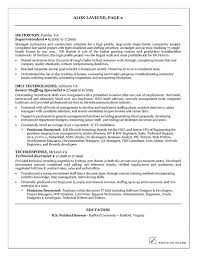 Recruiter Resume Sample Project Scope Template