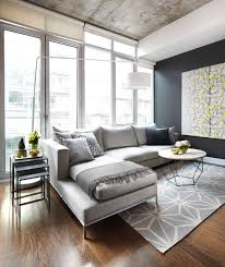 gray and white living room color scheme darker gray walls concrete ceiling light