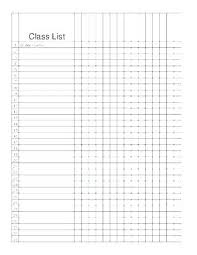 Roster List Template To Do Free Elegant Class For Blank