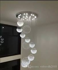 luxury high quality k9 crystal large ceiling light fixture for lobby staircase stairs long spiral chandelier light re pendant lamp llf ship chandelier