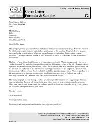 Resume Cover Letter Applying For A Job How To Write A Proper