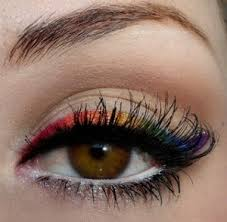 you can really make those brown eyes of yours stand out by applying a light electric color of shadow or eyeliner around them the bolder the color