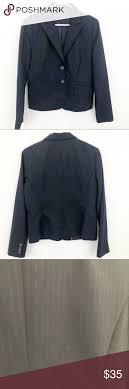J Crew Coat Size Chart J Crew Factory Navy Blue Pinstripe Work Blazer Excellent