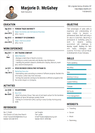 Convert Resume To Cv Professional CVResume Builder Online with many templates TopCVme 95