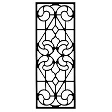 rectangular iron wall art style 205