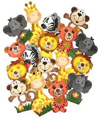 baby shower zoo animals.  Baby AVELLIM 18 Small Safari Jungle Zoo Animals 4u0026quot Tall Foam Decorations  For Baby For Shower O