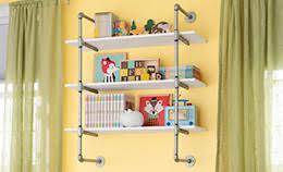 Pipe-Frame Wall Shelf