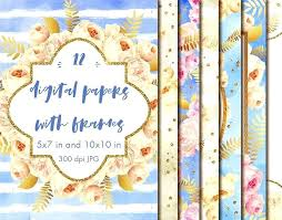 Paper Frames Templates Custom Paper Photo Frames 5x7 Digital Papers With Floral