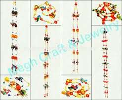 whole indian handmade crystal work wall hanging diwali special decor items pearl beaded door