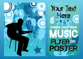 Free Music Poster Templates Party Flyer Designs Free Printable Templates Set 1 Latter