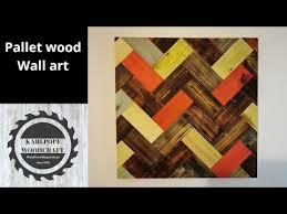 diy pallet wood wall art you