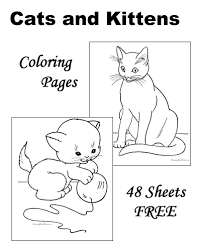 A cat prepares to color a person somewhere in a parallel universe. Cat Coloring Pages Free And Printable