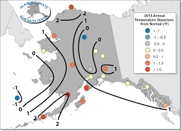 Alaska Annual Weather Chart 2013 Annual Statewide Summary Alaska Climate Research Center