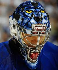 curtis joseph toronto maple leafs 2008 donning his cujo goalie mask