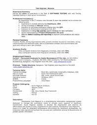 Sample Resume For Software Tester Fresher Resume Examples