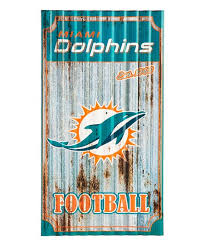 love this product miami dolphins corrugated metal wall art