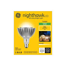 Outdoor Led Flood Light Bulbs 250 Watt Equivalent Ge Nighthawk 250 W Equivalent Dimmable Warm White Par38 Led