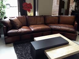 brown leather sectional genuine leather sectional with chaise costco couches