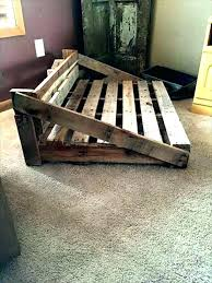 wooden dog bed frame pallet beds made from wood pallets plans be wooden dog beds