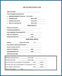Time Off Request Form Example 259
