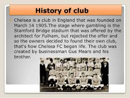 「1905,  Chelsea Football Club」の画像検索結果