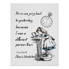 Alice In Wonderland Quote Magnificent Alice Wonderland Quote Posters Photo Prints Zazzle