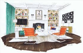 interior design hand drawings. Rendering Entourage Sitting Couple Render Me Ceu Drawing Interior Design Hand Drawings Renderings By I