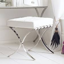 best leather dressing table stool white sovana boutique find pertaining to white dressing table chair ideas