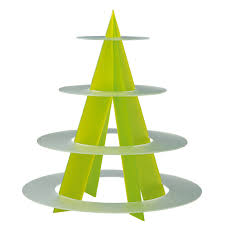 Acrylic Food Display Stands Catering Display Stands Stand 100 Tiers Green And White Round 27