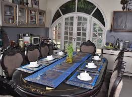 Indian Designer Home Decor Indian Home Decor Silk Peacock Designer Table Runner With