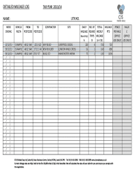 Mileage Log For Taxes Pdf Forms And Templates Fillable