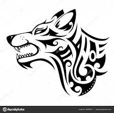 Wolf Tetování Obrazce Stock Vektor Akvlv 150050670