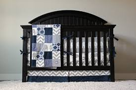 beautiful crib bedding baby bedding crib set navy blue chevron and blue crib skirt