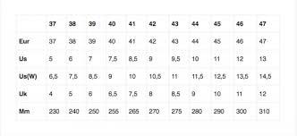 Bait Size Chart Size Guide Wesc Bait