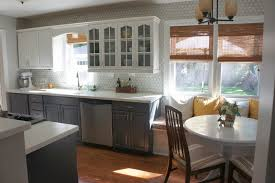 Wrap Around Kitchen Cabinets Kitchen Trendy Gray Traditional Painted Kitchen Cabinets Solid