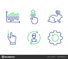 Animal Tested Diagram Chart And Human Resources Icons Set