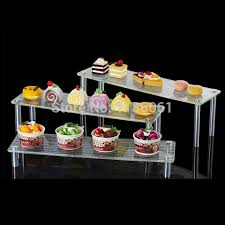 Acrylic Food Display Stands Three Tier Acrylic Wedding Cake Plastic Stainless Buffet Cupcake 2